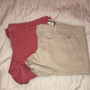Coral and Cream Shorts